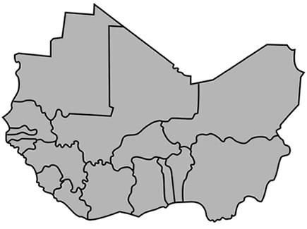 west africa map diagram