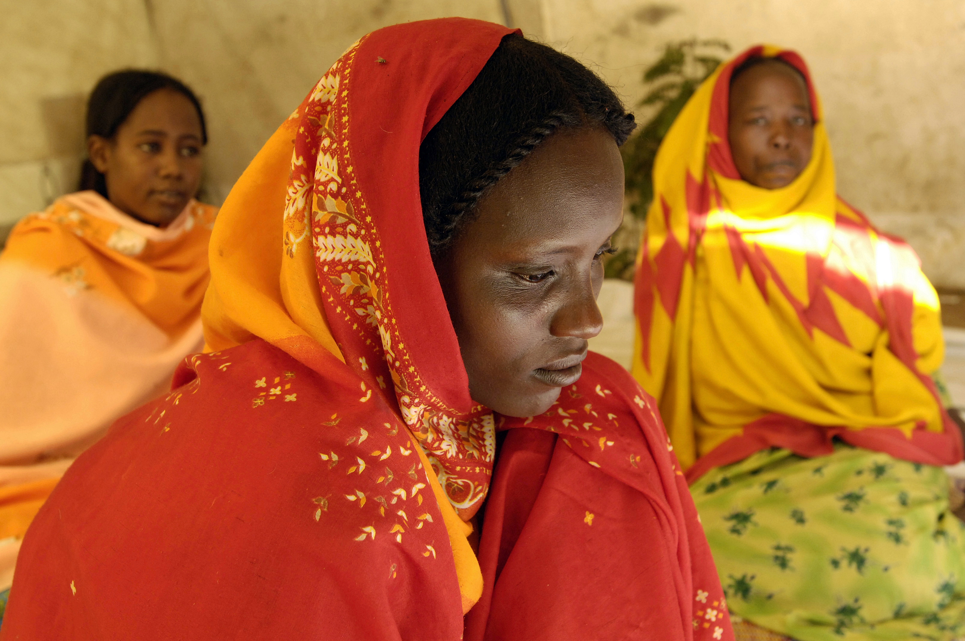 women waiting in Sudan